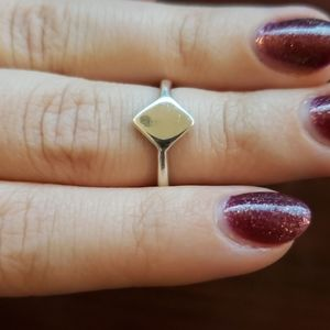 Dainty Diamond Shape Ring Signet